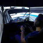Hayden in the simulator pod
