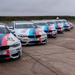 A row of BMW M4 cars